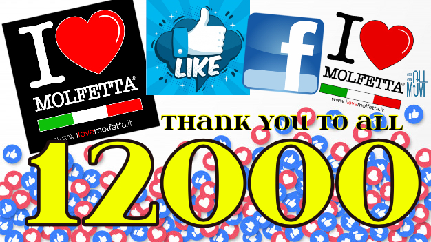 12mila Like on the facebook page I Love Molfetta: thank you!