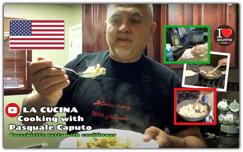 Cooking with Pasquale from USA: orecchiette pasta with cauliflower
